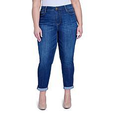 Seven7 Tummyless Rolled Slim Straight Jean - Seville
