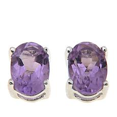 Sevilla Silver™ 0.84ctw Oval Amethyst Stud Earrings