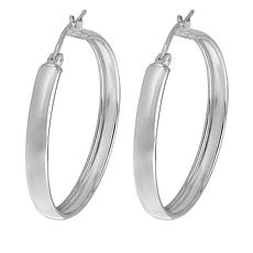 "Sevilla Silver™ 1-1/8"" Diameter Hoop Earrings"