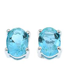 Sevilla Silver™ 1.2ctw Oval Blue Topaz Stud Earrings