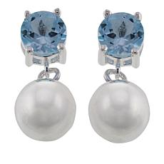 Sevilla Silver™ 1.66ctw Blue Topaz Bead Drop Earrings