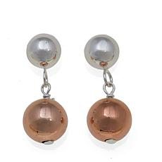 Sevilla Silver™ 2-tone Double Bead Drop Earrings