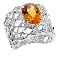 Sevilla Silver™ 2.44ct Citrine Webbed Band Ring