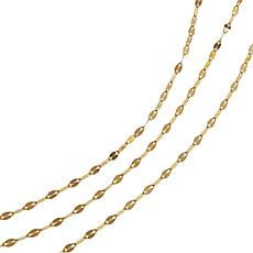 Sevilla Silver™ 3-piece Gold-Plated Mirror Chain Necklace Set