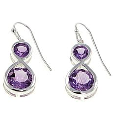 Sevilla Silver™ 4.54ctw Amethyst Infinity Drop Earrings