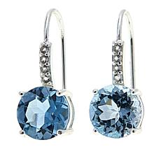 Sevilla Silver™ 4.68ctw Blue and White Topaz Earrings