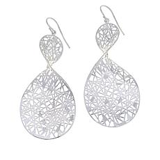 Sevilla Silver™ Abstract Crisscross Drop Earrings