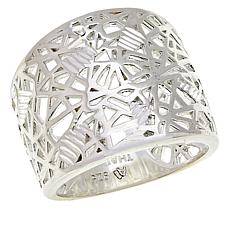 Sevilla Silver™ Abstract Crisscross Ring