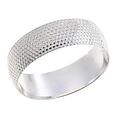 Sevilla Silver™ Beaded Texture Band Ring