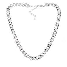 "Sevilla Silver™ Bold Curb Link 17"" Necklace"