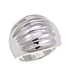 Sevilla Silver™ Bold Curved Ridged Ring
