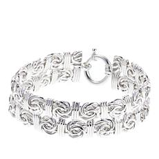 Sevilla Silver™ Byzantine and Polished Bar Bracelet