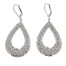 Sevilla Silver™ Byzantine Pear-Shaped Drop Earrings