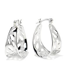 "Sevilla Silver™ Cut-Out ""Animal Print"" Hoop Earrings"
