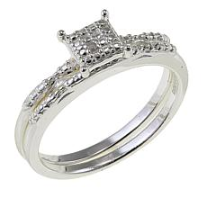 Sevilla Silver™ Diamond-Accented 2-piece Ring Set