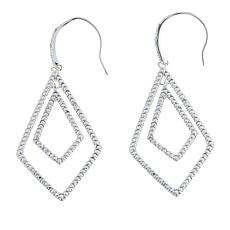 Sevilla Silver™ Diamond-Accented Diamond Shape Drop Earrings