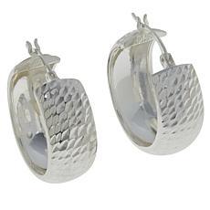 Sevilla Silver™ Diamond-Cut Hoop Earrings