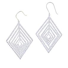 Sevilla Silver™ Diamond-Cut Infinity Kite Drop Earrings