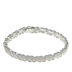 "Sevilla Silver™ Diamond Press ""Wave"" Line Bracelet"
