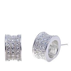Sevilla Silver™ Diamond-Pressed Barrel Stud Earrings