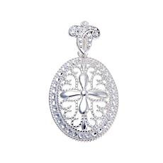 Sevilla Silver™ Diamond-Pressed Cross Pendant