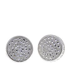 Sevilla Silver™ Diamond-Pressed Round Stud Earrings