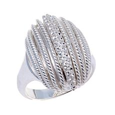 Sevilla Silver™ Diamond-Pressed Striped Ring