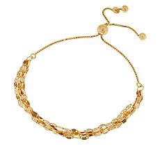 Sevilla Silver™ Gold-Plated Adjustable Mirror Chain Bracelet