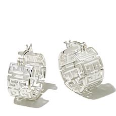 Sevilla Silver™ Greek Key Hoop Earrings