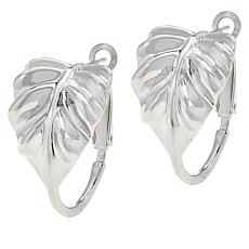 Sevilla Silver™ Omega Back Leaf Earrings