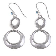 Sevilla Silver™ Polished Double Circle Drop Earrings