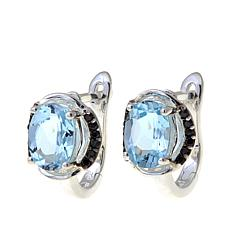 Sevilla Silver™ Sky Blue Topaz & Black Spinel Earrings