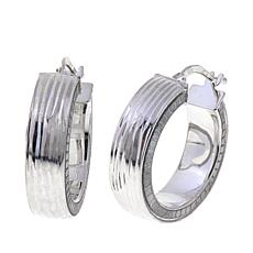 Sevilla Silver™ Sparkle Inlay Hoop Earrings