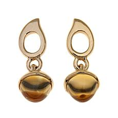 Sevilla Silver™ with Technibond® Citrine Drop Earrings