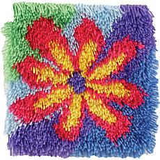 "Shaggy 12"" x 12"" Latch Hook Kit - Flower Power"