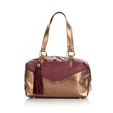 Sharif Whipstitched Colorblock Leather Satchel