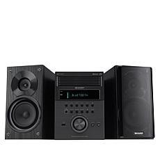 Sharp XL-BH250 5-CD Micro Shelf System with Bluetooth, Radio & Remote