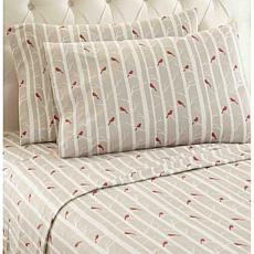 Shavel Home Micro Flannel Print Sheet Set - Queen