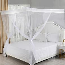 Sheba 4-Post Hanging Sheer Mosquito Bed Canopy
