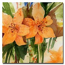 """Sheila Golden 'Tiger Lilies' Giclee Print - 18"""" x 18"""""""
