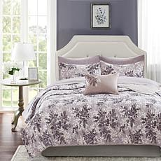 Shelby Twin 6pc Coverlet and Sheet Set Gray