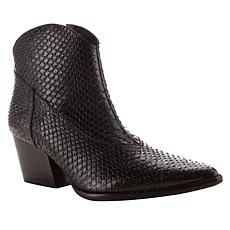 Sheryl Crow Daria Snake-Embossed Leather Bootie