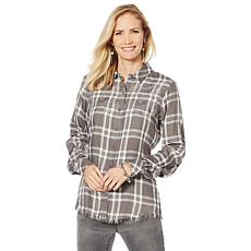 Sheryl Crow Washed Plaid Shirt
