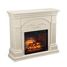 Sicilian Harvest Infrared Electric Fireplace - Ivory