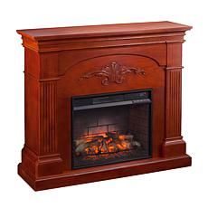 Sicilian Harvest Infrared Electric Fireplace - Mahogany