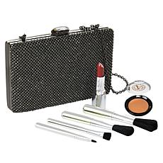 Signature Club A Jeweled Evening Bag & Essentials Hematite