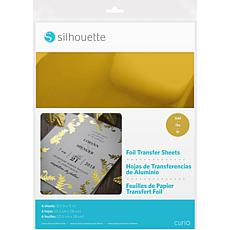 Silhouette 6-pack Foil Transfer Sheets in Gold