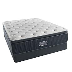 Simmons Beautyrest® Silver Plush Pillowtop Mattress Set - Twin