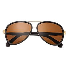 Simplify Stanford Polarized Sunglasses w/ Gold Frames and Brown Lenses