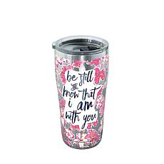 Simply Southern Be Still Floral 20 oz Stainless Steel Tumbler with lid